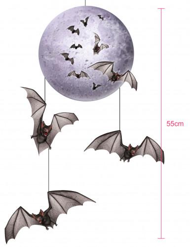 Decorazione Halloween luna e pipistrelli-1