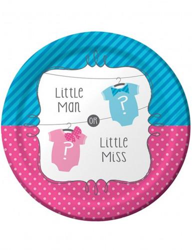 8 Piatti di carta per un Baby Shower Bambina o Bambino