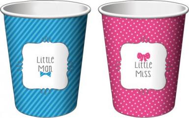 8 Bicchieri di carta Baby Shower Bambina o Bambino 250 ml