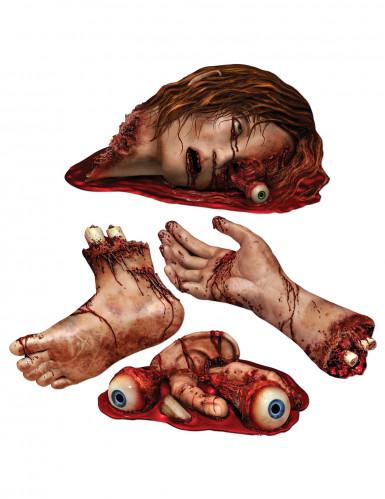 Decorazioni di parti del corpo insanguinate