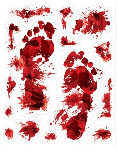 15 impronte di sangue adesive auto incollanti