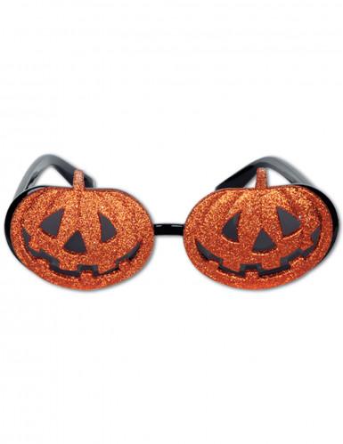 Occhiali con zucche per Halloween