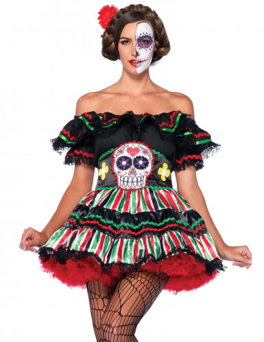Costume Giorno dei Morti corto donna-2