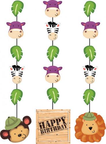 3 decorazioni per compleanno 91 cm tema Safari avventure