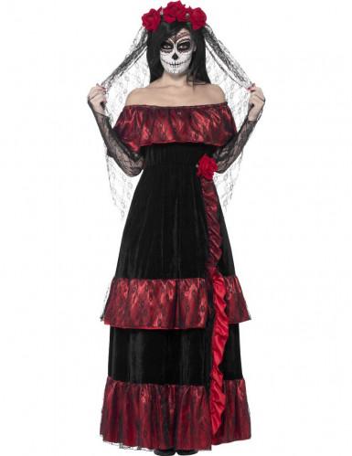 Costume da sposa lugubre messicana