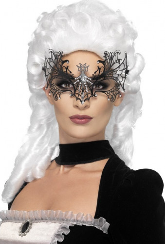 Maschera tela di ragno per la festa di Halloween