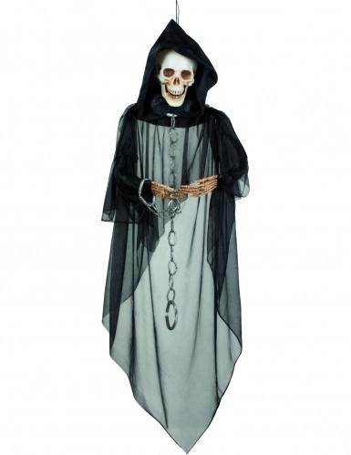 Decorazione Halloween raffigurante scheletro incatenato