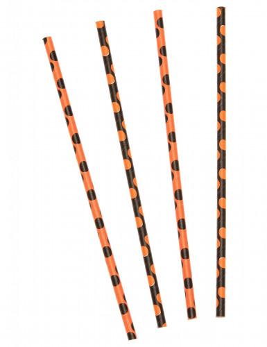 10 cannucce per Halloween di colore nero e arancione
