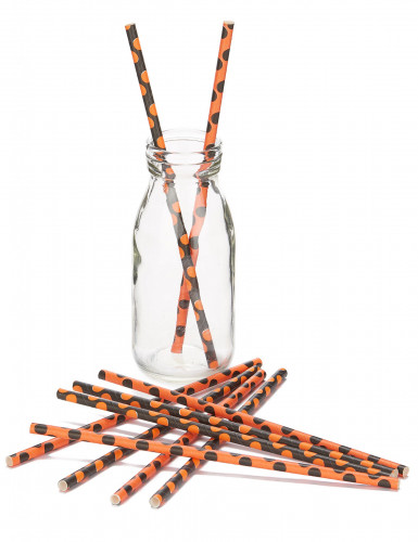 10 cannucce per Halloween di colore nero e arancione-1