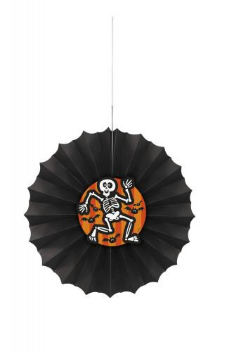 Festone nero con scheletro