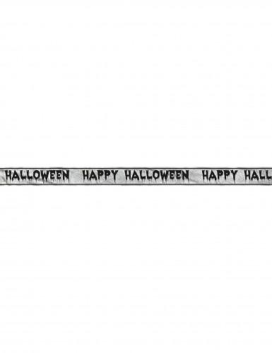 Striscione con tele di ragno Happy Halloween