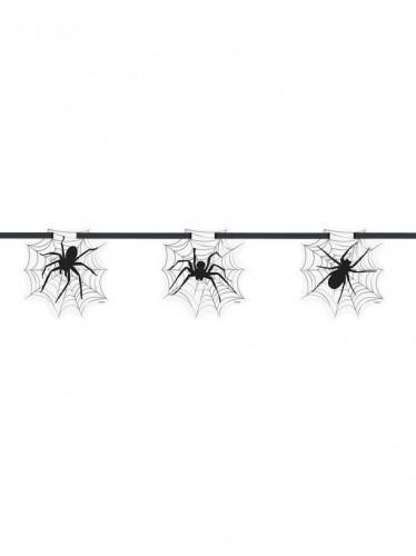 Ghirlanda di ragni e ragnatele per Halloween