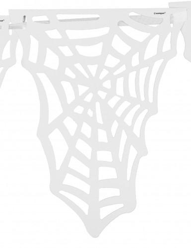 Ghirlanda di ragnatele bianche per Halloween-1