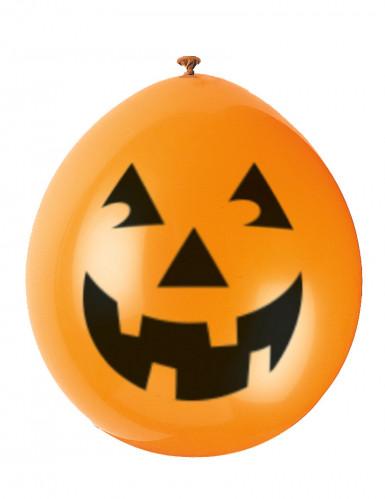 10 palloncini a forma di zucca sorridente di Halloween