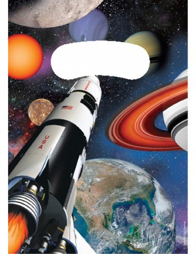 8 Buste regalo compleanno navicella spaziale