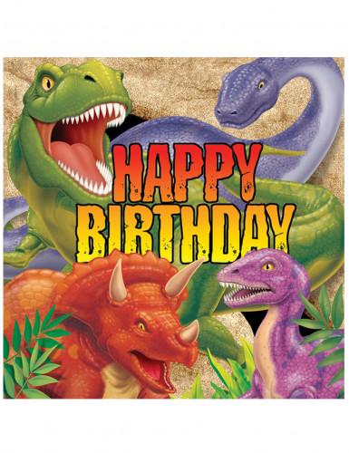 Tovaglioli carta con dinosauri confezione da 16