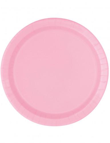 16 piatti rosa chiaro in cartone 23 cm