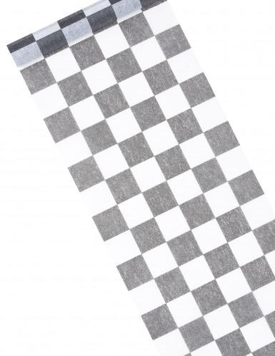 Runner da tavola tessuto non tessuto con motivo a scacchiera