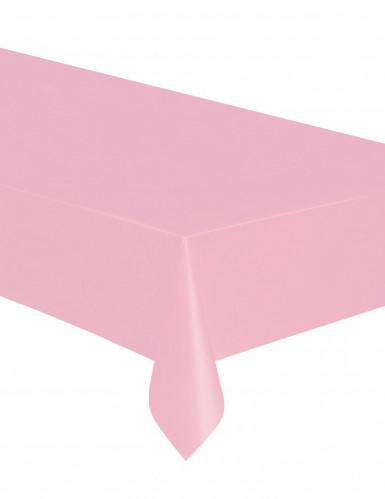 Tovaglia rosa chiaro di plastica 137 x 274 cm