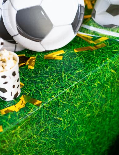 Tovaglia di plastica verde stampa prato-1