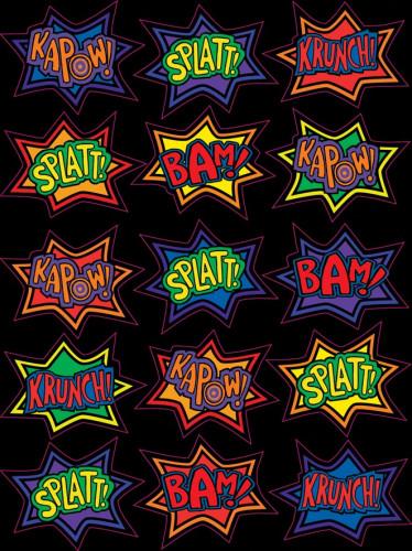 15 adesivi fumetto supereroe