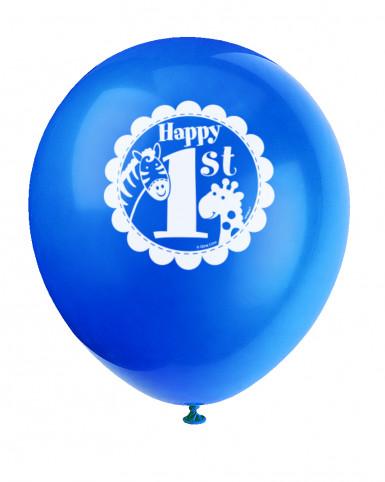 8 Palloncini Giungla 1 anno Bambino-1