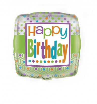 Palloncino quadrato con la scritta Happy Birthday