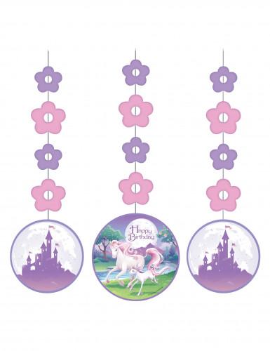 3 sospensioni magico unicorno