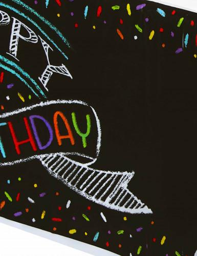 Tovaglia Happy Birthday serigrafata con coriandoli-1