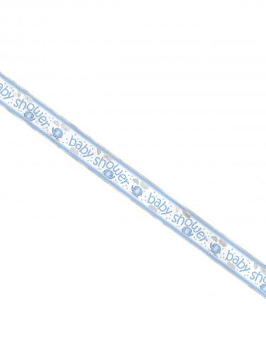 Banner in alluminio Baby Shower Elefante blu