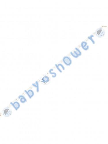 Striscione Baby Shower Elefante celeste