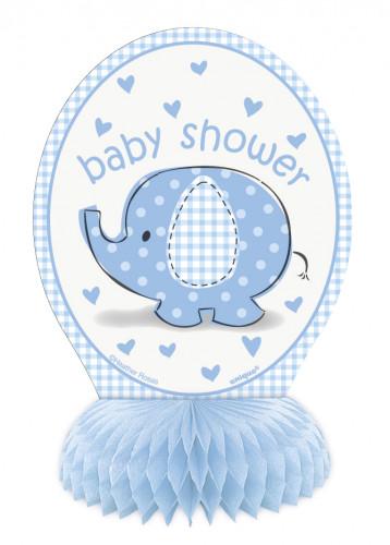 4 Mini Decorazioni Elefante Azzurro