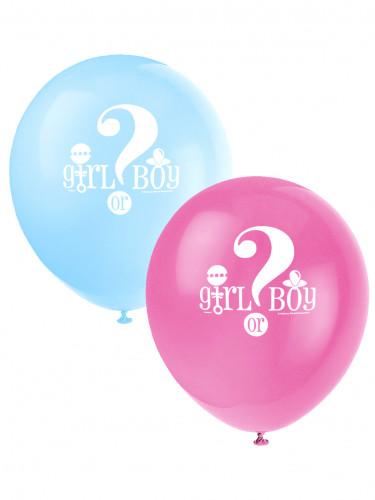 8 palloncini stampati Girl or Boy