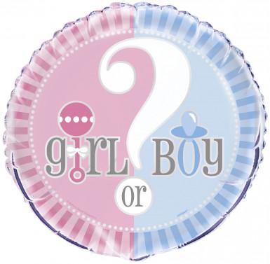 Pallone in alluminio Girl or Boy diametro 46 cm