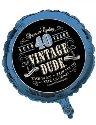 Palloncino Compleanno Vintage 40 anni in alluminio