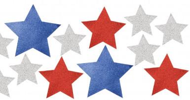 12 decorazioni a forma di stella USA