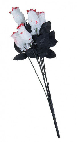 Bouquet di 6 rose insanguinate per Halloween