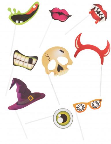 Kit photobooth in cartone per Halloween