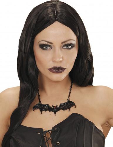 Collana pipistrello nero Halloween adulto