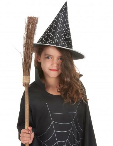 Cappello nero e bianco da strega per Halloween-1