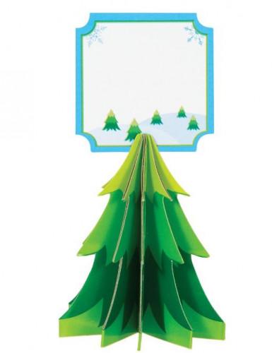 4 Segnaposto con albero di Natale