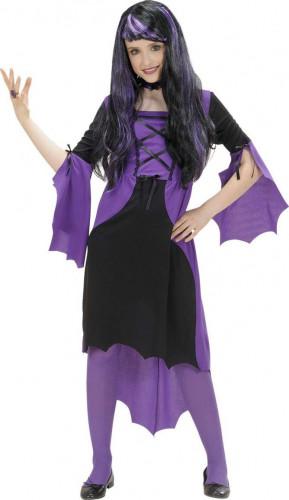 Costume di Halloween da vampiro viola per ragazza