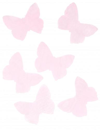 50 farfalle in organza rosa