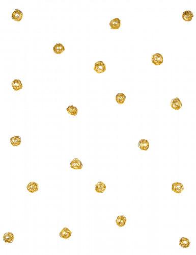 Lotto di 20 perline con filo di metallo dorato-1