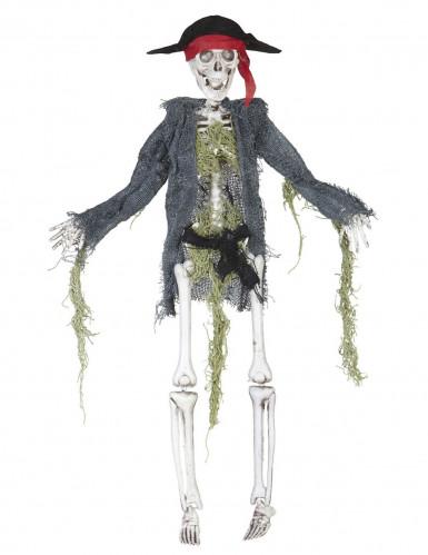 Scheletro di zombie pirata da decorazione