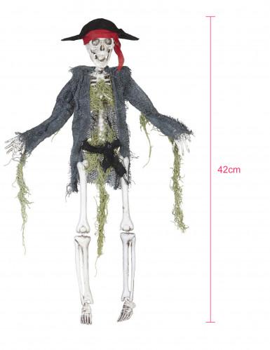 Scheletro di zombie pirata da decorazione-1