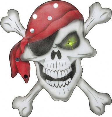 Decorazione per festa teschio di pirata