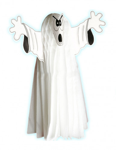 Addobbo fantasma in cartone bianco