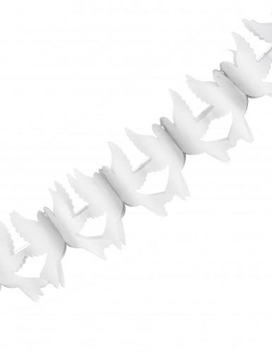 Ghirlanda in carta Colombe bianche 2,2 m