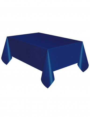 Tovaglia in plastica blu oltremare da 137 x 274 cm-1